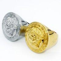ingrosso anelli di barretta dell'anca-New Fashion Gold Medusha Hip Hop Anelli per dito Trendsetter Argento placcato gioielli di lusso di alta qualità per gli uomini gioielli di moda
