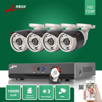 Wholesale Hard Disk Camera Security System - DHL FREE 4CH 1080N AHD DVR 720P Outdoor Waterproof IR CCTV Home Surveillance Security Camera System With 500GB Hard Disk