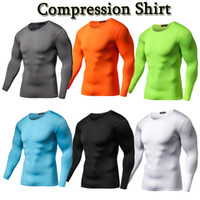 Wholesale fitness compression clothing resale online - Compression Shirt Fitness Sports Clothing Solid Crossfit Bodybuilding Sleeves