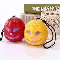 Wholesale Funny Phone Stands - Hallowmas Pumpkin portable Bluetooth Speaker 5V Funny Mini Wireless Stereo with FM radiio LED light Usb Slot TF Card Hands free