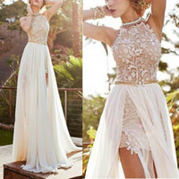 Wholesale Dreses Women - Sexy Lace Long Evening Formal Party Dress Gown Prom New High Quality Low Price women Beach dreses Free Shipping