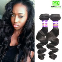 Wholesale Cheap Wholesale Black Hair Products - Peruvian Loose Wave Hair Unprocessed Peruvian Human Hair Weave Grade 8A Virgin Hair Products Black Color Loose Wave Hair Weft Cheap Hair