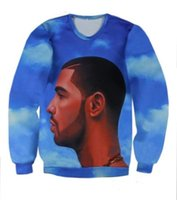 Wholesale Leather Hoodie Shirts - Drake Nothing Was the Same Tuscan Leather Crewneck 3D Sweatshirt Mens Womems Fashion Hoodie Navy Blue Long Sleeve Cute Tee Shirt Size S-XXXL