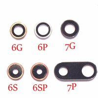 Discount iphone 5s rear camera - For iPhone 7 plus New Rear Back Camera Lens Glass Ring Cover With Frame Holder For iPhone 4 4G 4S 5 SE 5S 5C 6 6 Plus 6S 6S Plus Small Parts
