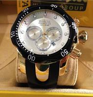 Wholesale Cheap Wholesale Brand Watches - New listing Men Watch Luxury Invicta Brand Watches Quartz Clock Fashion Watch Cheap Sports Wristwatch Relogio Male Chronograph