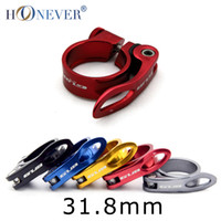 Wholesale Quick Release Seat Clamp - Wholesale-Ultralight Road Bike MTB Mountain Seat Post Clamp Aluminum Alloy Quick Release Bicycle Seatpost Clamp 31.8mm