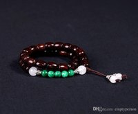 Wholesale India Lobular Red Sandalwood - India lobular red sandalwood prayer beads fashion lady bracelets 8 * 10mm