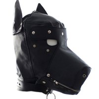 Wholesale mask sex parties - Leather Dog Puppy sex toy Hood Full Mask For Party bondage HD002