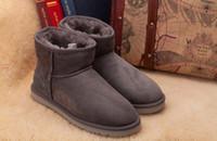 botas us14 venda por atacado-Frete grátis 2017 de alta qualidade BGG senhoras mulheres clássicas botas botas de neve botas de inverno