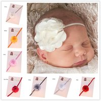 Cheap Tiaras Newborn Hair Flower Best Chiffon Solid Cheap Headband Baby