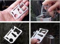 Wholesale Multipurpose Pocket Knife - 1 pcs Camping Multipurpose tool 11 in 1 Multifunction Knife,Pocket Survival Tool Outdoor Survivin knife,Free shipping