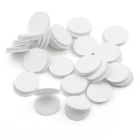 Wholesale Wholesale Sticky Dots - White Self Adhesive Hook and Loop Sticky Dots Coins For Apparel Sewing Crafts Accessory H210828