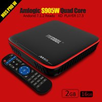MECOOL M8S PRO TV Boxes Amlogic S905W Quad Core Smart TV CAJA 2GB 16GB Android 7.1 Decodificadores 4K Wifi HDMI 1080P
