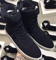 Wholesale Italy Boots Men - DHL Free Size 34-46 Fear of God Military Sneaker Black Nylon Jerry Lorenzo Fog Made In Italy military boots Winter boots
