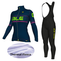 bc0e10f0e ALE Cycling Set Women Winter Thermal Fleece Long Sleeves Cycling Jerseys  Ropa Maillot Ciclismo Bicycle Bike Cycling Clothing