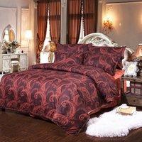 бордовое постельное белье оптовых-европейский стиль печатных 3 шт. постельные принадлежности комплект величие синий Бургундский фуксия кровать наборы пододеяльник + 2 наволочки