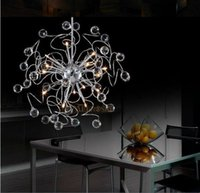 Wholesale Crystal Ship Hanging Light - Fast Shipping Floral K9 Crystal Pendant Lamp With G4 Lights MD8492 Crystal Suspension Hanging Light