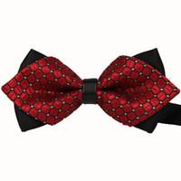 Wholesale Boys Yellow Bowtie - New 2016 Formal Commercial Bow Tie Fashion Men Bow Ties For Boys Accessories Cravat Bowtie 10pcs lot