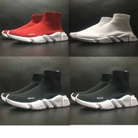 Chaussures Décontractées Plates Pas Cher-Chaussures de mode de luxe de haute qualité Chaussures de sport unisexe Chaussettes de mode plates Boots Femme Nouveau Slip-on Elastic Cloth Speed ​​Trainer Runner Man Shoes Outdoo