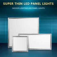 Wholesale 48 Led Light Panel - CE UL Silver frame 2x2 1x2 1x1 LED panel lights 600x600mm 36w 48 54w flat Led Ceiling panel Light warm nature white AC85-265V