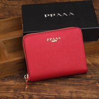 Wholesale Business Card Holder Promotional - Eight colors optional popular female wallets Two layers of leathe women mini wallet fashion zipper purse brand discount promotional purses