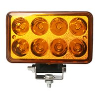 "Wholesale Leds Lights For Trucks - 4"" inch 24W LED Work Light 12-80v Rectangle LED Work Driving Lamp 8pcs*3w Leds for 4x4 Off-road Car Boat Truck SUV ATV UTV"