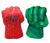 Wholesale Incredible Hulk Plush - Retail 2016 New Avengers Cosplay Incredible Green Hulk Spiderman Smash Hands Plush Gloves Boxing Gloves Children Gifts Free Shipping
