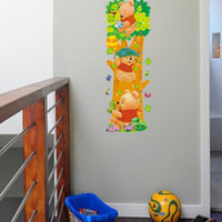 Wholesale Winnie Pooh Tree - Trees and Bear Pattern Removable Wall Winnie the Pooh Stickers Wall Children Measure Height Decals Art Decal for Kids