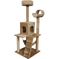 """Wholesale Home Post - 52"""" Cat Kitty Tree Tower Condo Furniture Scratch Post Pet Home Bed Beige"""