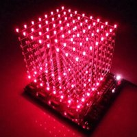 Wholesale 8x8x8 Cube - Wholesale- Free shipping 3D8 light cube (parts) pcb board +60 s2 +573 +2803   CUBE8 8x8x8 3D LED + information and source(3D8S) 3d led cube