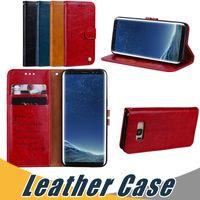 Wholesale s6 edge flip case for sale - Group buy For Samsung S8 Plus S7 S6 Edge Wallet Leather Case with Card Slot Flip Stand Case For Samsung J1 J5 J7 J1 Mini