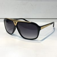 Wholesale Vintage Style Sunglasses Men - Evidence Luxury Millionaire Sunglasses Retro Vintage Men Brand Designer Sunglasses Shiny Gold Summer Style Laser Logo Gold Plated