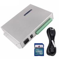 t полоски оптовых-Карточка T-300K T300K SD он-лайн через PC RGB полный цвет вела прокладку Сид 8ports 8192 пикселов ws2811 ws2801 ws2812b регулятора модуля пиксела