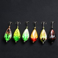 ingrosso rana dura-6 colori 4 cm 6g MOCRUX 3D Eye Fishing Lure Colorful Hard Rana Bait Sharp Hook Tackle topwater esche da pesca Affrontare esche ganci