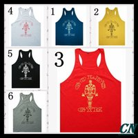 Wholesale 2016 gym vest bodybuilding clothing and fitness men tank tops golds gym brand high quality cotton undershirt gym shark js