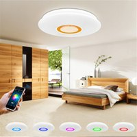 Wholesale Led Ceiling Color Changing - Wholesale- LED RGB Music ceiling Light with Bluetooth Phone APP control Color Changing Lighting led ceiling lamp Indoor atmosphere lights