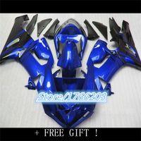 Wholesale Zx6r Factory Fairings - Tank Cover For KAWASAKI NINJA factory blue ZX6R 05-06 Q993 ZX-6R ZX 6R 636 ZX636 blue black 05 06 2005 2006 Fairing