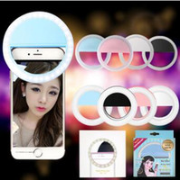 Portable Universal Selfie Ring Flash Lamp Light Mobile Phone LED Fill Lighting Camera Photography para Iphone X 8 7 plus Samsung S8 DHL