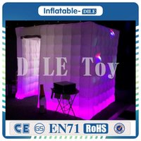 Wholesale wedding tent lighting online - New style factory price x3x3m inflatable tent With LED light wedding party inflatable photo booth Inflatable photo booth tent For sale