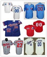 Wholesale Size 37 - Custom Montreal Expos Baseball Jerseys #12 Tom Brady #45 #27 #37 #8 White Pinstripe Throwback Royal Blue Vintage Mens Women Youth Size S-4XL