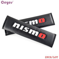 Wholesale Nissan Altima Cars - Auto Carbon Fiber Seat Belt Cover for Nismo Nissan Pulsar Tiida Qashqai X-Trail Altima Versa Car Safety Belt Cover Car Styling 2pcs lot
