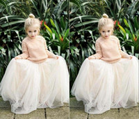 Wholesale Girls Tutu Skirts For Cheap - 2016 Lovely Baby Girls Tulle Skirts White Princess Tutu Ball Gown Flower Girl Party Dresses For Skirt Wedding Cheap Children's Long Skirts