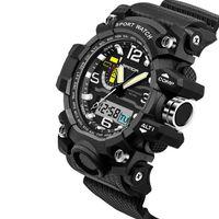 Wholesale Digital Silicone Watch Stone - Sanda Men's Sport Watches Fashion Watch Waterproof 30M Luxury Analog Digital Watch Military Watches Swimming Diving Hand Clock Montre 1156