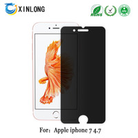 Wholesale iphone spy phone online – For IPHONE7 IPHONE PLUS Privacy Tempered Glass Screen Protector Unti Spy Glass Film Mobile Phone Accessories Screen Protectors