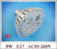 Wholesale 5led 5w - die casting aluminum high quality high bright LED spot light lamp spotlight LED bulb E27 AC85-265V 5LED 5W 2 year warranty