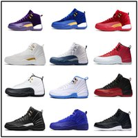 Wholesale Zapatillas Basketball - Air Retro 12 Basketball Shoes Men Women Gs White Grey Masters Retros 12s Zapatillas Sport Taxi Playoffs Sneaker with box
