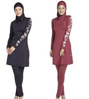 Modest Swimwear musulmano Costume da bagno islamico per le donne costumi da  bagno hijab swimwear completo copertura musulmana nuoto beachwear costume da  ... f8d3b7896215