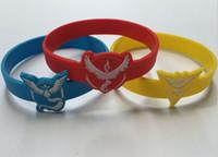 Wholesale Game Day Silicone Wristband - Hot Sale Charm Poke Silicone Bracelets Poke Logo Wristband Games Team Jewelry Gift Kids Toys Free shipping