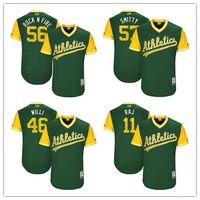 "Wholesale Rock Smith - Oakland Athletics Frankie ""Montas"" Chris Smith ""Rock n Fire"" Josh Smith ""Smitty"" Rajai Davis ""Raj"" 2017 Players Weekend Authentic Jersey"