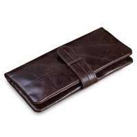 Wholesale Man S Purse Leather - New classic luxury men 's Casual wallet man purse Clutch bag Brand genuine leather wallet long design men bag gift for men